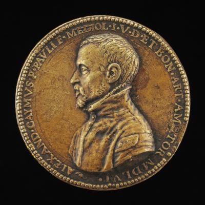 Image for Alessandro Caimo, Jurist of Milan [obverse]; Fortune Holding a Sail, and Helmeted Woman [reverse]