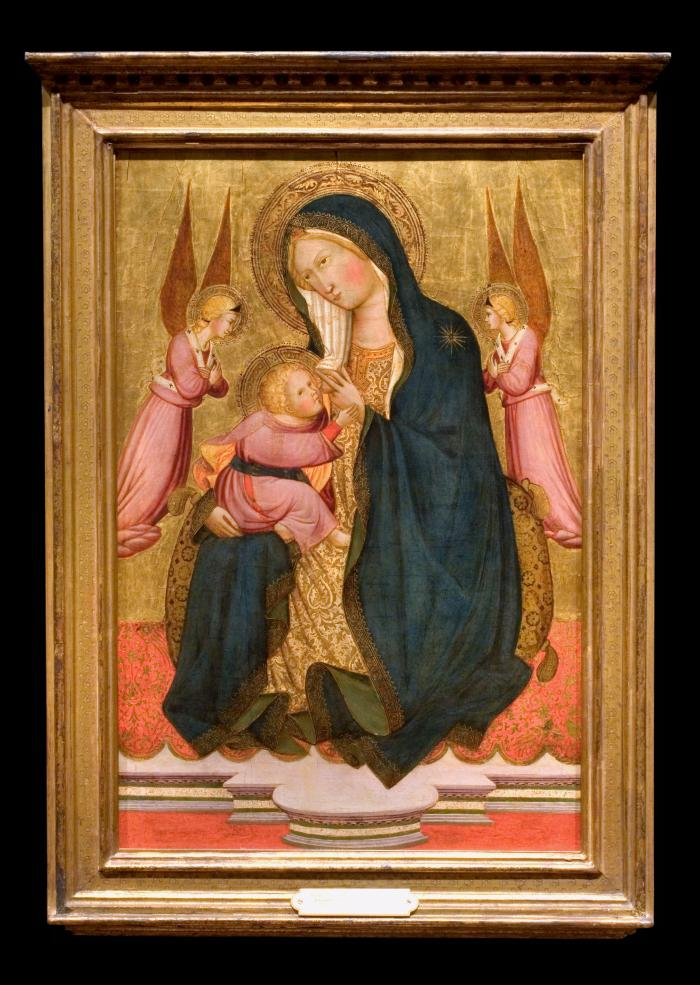 Image for Madonna and Child Adored by Two Angels (also, Madonna of Humility)