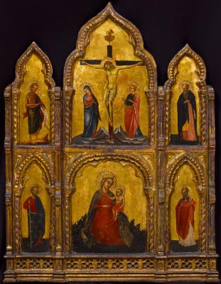Image for Triptych of the Madonna of Humility, Crucifixion, and Saints