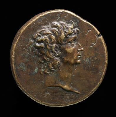 """Image for """"Augustus"""" (Self-Portrait) [obverse]; Male Figure and Winged Caduceus [reverse]"""