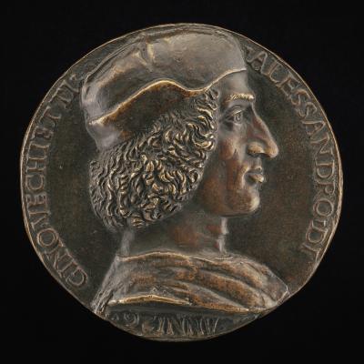 Image for Alessandro di Gino Vecchietti, 1472-1532 [obverse]; Fortune with Sail, on a Dolphin [reverse]