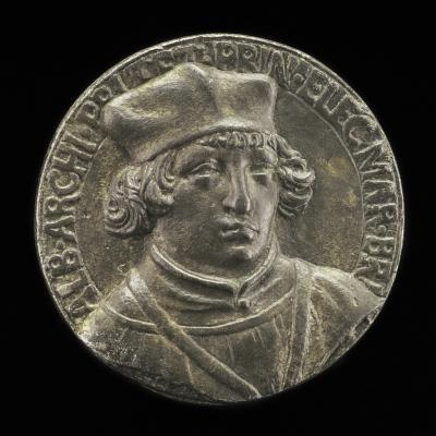 Image for Albrecht of Brandenburg, 1490-1545, Cardinal 1518 [obverse]; Coat of Arms [reverse]