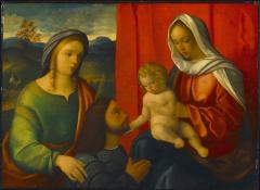 Image for Madonna and Child with Female Saint and Donor