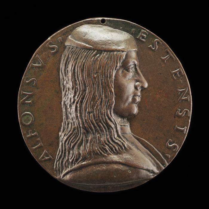 Image for Alfonso I d'Este, 1476-1534, 3rd Duke of Ferrara, Modena and Reggio 1505 [obverse]; Alfonso(?) in a Triumphal Car [reverse]