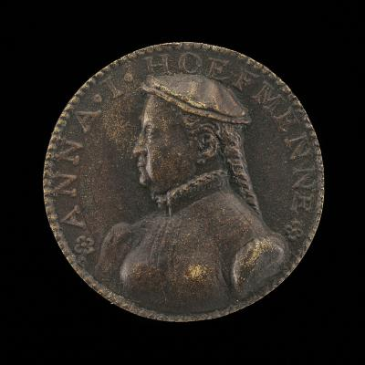 Image for Anna Hofmann, died 1594, Second Wife of the Artist [obverse]; Venus and Cupids [reverse]