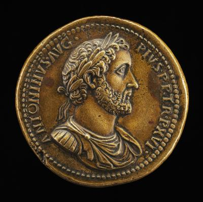 Image for Antoninus Pius, Emperor A.D. 138-161 [obverse]; Roma, the Emperor, and Victory [reverse]