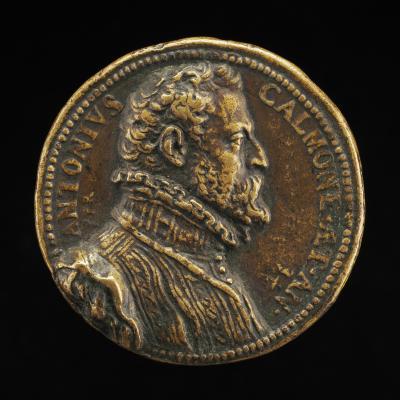 Image for Antonio Calmone, Secretary to Philip II [obverse]; Flowering Shrub Growing Through Thorns [reverse]
