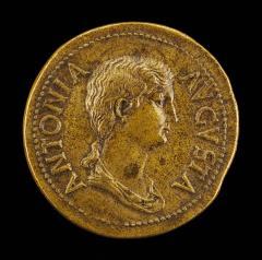 Image for Antonia, 36 B.C.-A.D. c. 38, Daughter of Mark Antony and Octavia [obverse]; Claudius Caesar [reverse]