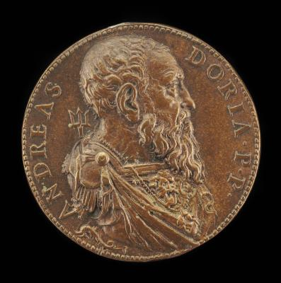 Image for Andrea Doria, 1466-1560, Genoese Admiral [obverse]; Galley and Small Boat [reverse]