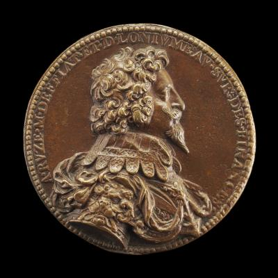 Image for Antoine Coëffier, called Antoine Ruzé, 1581-1632, Baron Longjumeau 1621 and Marquess of Effiat 1624 [obverse]; Hercules Helping Atlas to Bear the Globe [reverse]