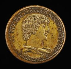 Image for Antinous, died A.D.130, Favorite of the Emperor Hadrian [obverse]; Mercury Taming Pegasus [reverse]