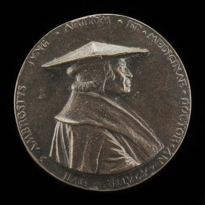 Image for Ambrosius Jung, 1471-1548, City Physician of Augsburg [obverse]; Coat of Arms [reverse]