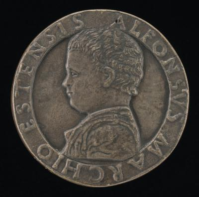 Image for Alfonso I d'Este, 1476-1534 [obverse]; Alfonso as Infant Hercules [reverse]