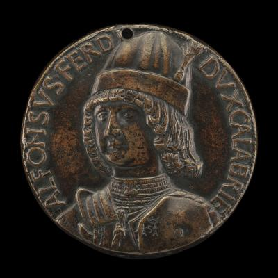 Image for Alfonso II of Aragon, 1448-1495, Duke of Calabria 1458, afterwards King of Naples 1494 [obverse]; Alfonso's Triumphal Entry into Naples [reverse]