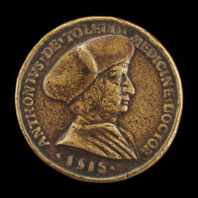 Image for Antonio Gonzalo de Toledo, c. 1480/1483-1524, Physician at Lyon [obverse]; Woman Sitting on a Saddle [reverse]