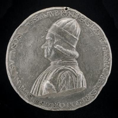 Image for Andrea Barbazza, died 1480, Legal Adviser [obverse]; Fame Holding a Closed and an Open Book [reverse]