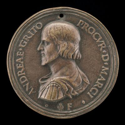 Image for Andrea Gritti, Procurator of St. Mark's, later Doge of Venice [obverse]; Gritti Before the Breached City Wall [reverse]
