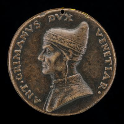 Image for Antonio Grimani, Doge of Venice 1521-1523 [obverse]; Justice and Peace [reverse]