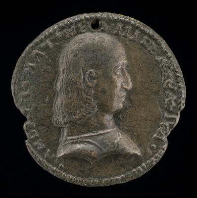 Image for Andrea Matteo III d'Acquaviva, 1457-1528, Duke of Atri and Teramo 1481 [obverse]; Crowned Shield of Arms [reverse]