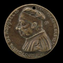 Image for Antonio Roselli of Arezzo, 1380-1466, Jurist [obverse]; Roselli Seated on a Bracket [reverse]