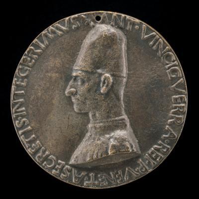 Image for Antonio Vinciguerra, 1468-1502, Poet, Secretary to the Republic of Venice [obverse]; Apollo on a Car Drawn by Swans [reverse]