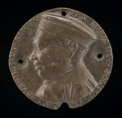 Image for Borghese Borghesi, 1414-1490, Jurisconsult of Siena [obverse]; Minerva Holding a Spear and Shield [reverse]