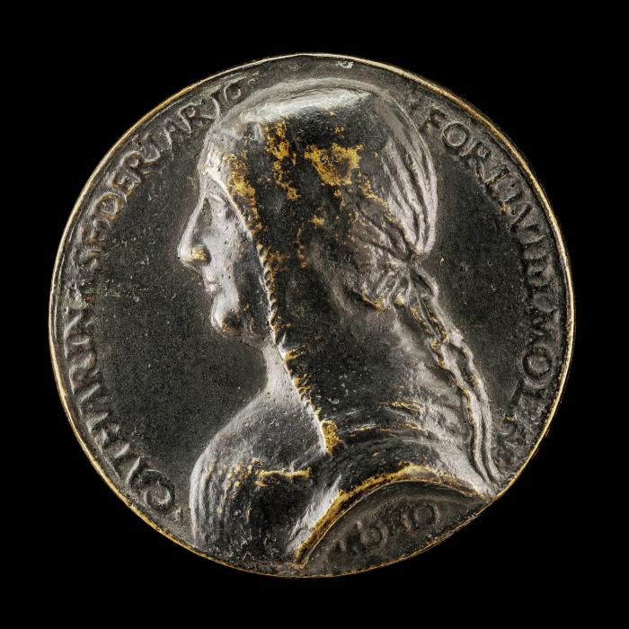 Image for Caterina Sforza-Riario, 1463-1509, Countess of Forli and Imola [obverse]; Victory in a Car Drawn by Horses [reverse]