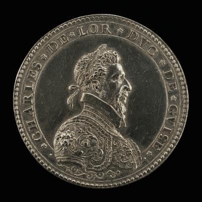 Image for Charles III de Lorraine, 1543-1608, Duke de Guise [obverse]; A Man Ploughing [reverse]