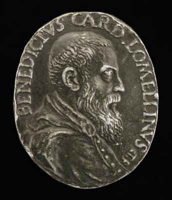 Image for Benedetto Lomellini of Genoa, 1517-1579, Cardinal 1565 [obverse]; Gentleness Standing on a Serpent [reverse]