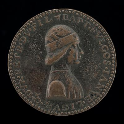 Image for Battista II di Campofregoso, Doge of Genoa 1478-1483 [obverse]; Crocodile and Trochilus [reverse]