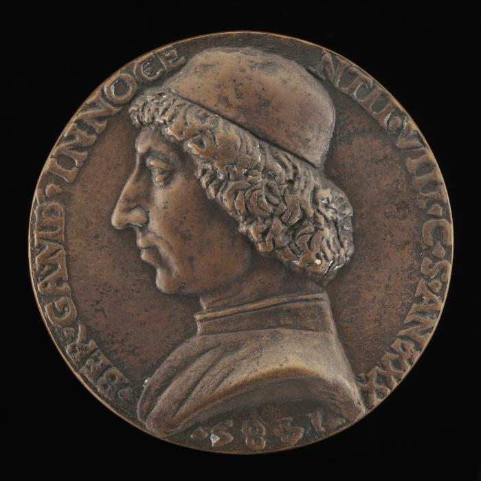 Image for Bernardino Gamberia, 1455-1507, Private Chamberlain of Innocent VIII [obverse]; God the Father in the Clouds [reverse]