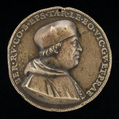 Image for Bernardo de' Rossi, died 1527, Bishop of Treviso 1499, Governor of Bologna 1519-1523 [obverse]; Figure in a Car Drawn by a Dragon and an Eagle [reverse]