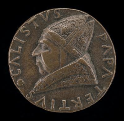 Image for Callistus III (Alfonso de Borja, 1378-1458), Pope 1455 [obverse]; Borgia Arms with Tiara [reverse]