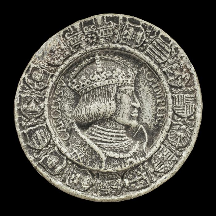 Image for Charles V, 1500-1558, King of Spain 1516-1556, Holy Roman Emperor 1519 [obverse]; Coats of Arms around Double-headed Eagle [reverse]