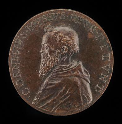 Image for Cornelio Musso, 1511-1574, Franciscan Monk and Bishop of Bitonto 1547 [obverse]; Unicorn in a Landscape [reverse]