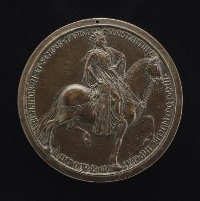 Image for Constantine the Great, Roman Emperor 307-337 [obverse]; The Church and Paganism Beside the Fountain of Life [reverse]