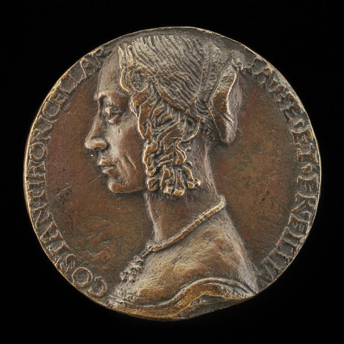 Image for Costanza Rucellai, probably Daughter of Girolamo Rucellai and Wife of Francesco Dini 1471 [obverse]; Virginity Tying Love to a Tree [reverse]