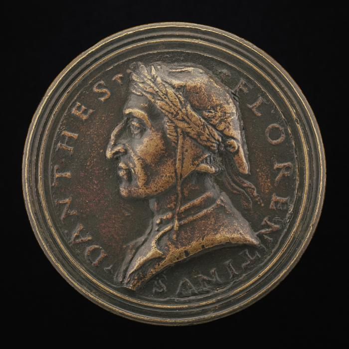 Image for Dante Alighieri, Florentine Poet, 1265-1321 [obverse]; Dante Before the Mountain of Purgatory [reverse]