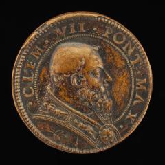 Image for Clement VII (Giulio de' Medici, 1478-1534), Pope 1523 [obverse]; Joseph Revealing Himself to his Brethren [reverse]