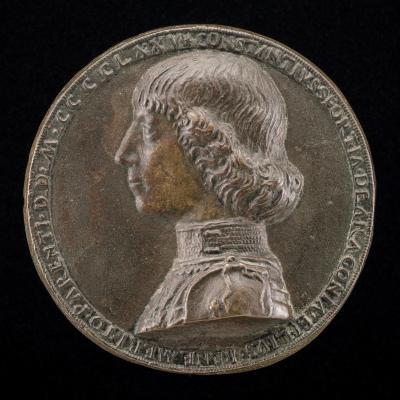 Image for Costanzo Sforza, 1447-1483, Lord of Pesaro 1473 [obverse]; Alessandro Sforza, 1409-1468, Lord of Pesaro 1445 [reverse]