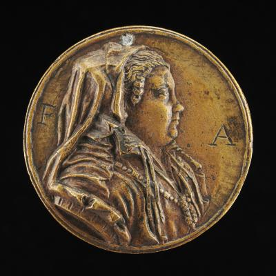 Image for Elisabetta Scotti, Wife of Giovanni Alvise Gonfalanieri [obverse]; Inscription [reverse]