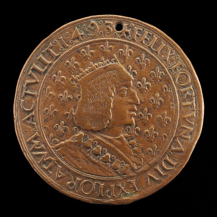 Image for Charles VIII, 1470-1498, King of France 1483 [obverse]; Anne of Brittany, Wife of Charles VIII 1491, died 1514 [reverse]