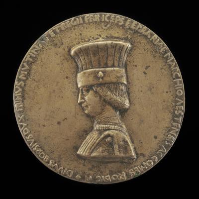 Image for Borso d'Este, 1413-1471, Marquess of Ferrara 1450, Duke of Modena and Reggio 1452, and 1st Duke of Ferrara 1471 [obverse]