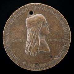 Image for Ferdinand of Aragon, died 1496, Prince of Capua and King of Naples 1495 [obverse]; Felicitas Seated, Holding Ears of Corn and Waving Cornucopiae [reverse]