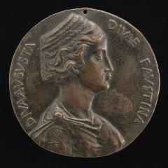 Image for Faustina the Elder, d. 141, Wife of Emperor Antoninus Pius [obverse]; Antonius Pius and Faustina Joining Hands [reverse]