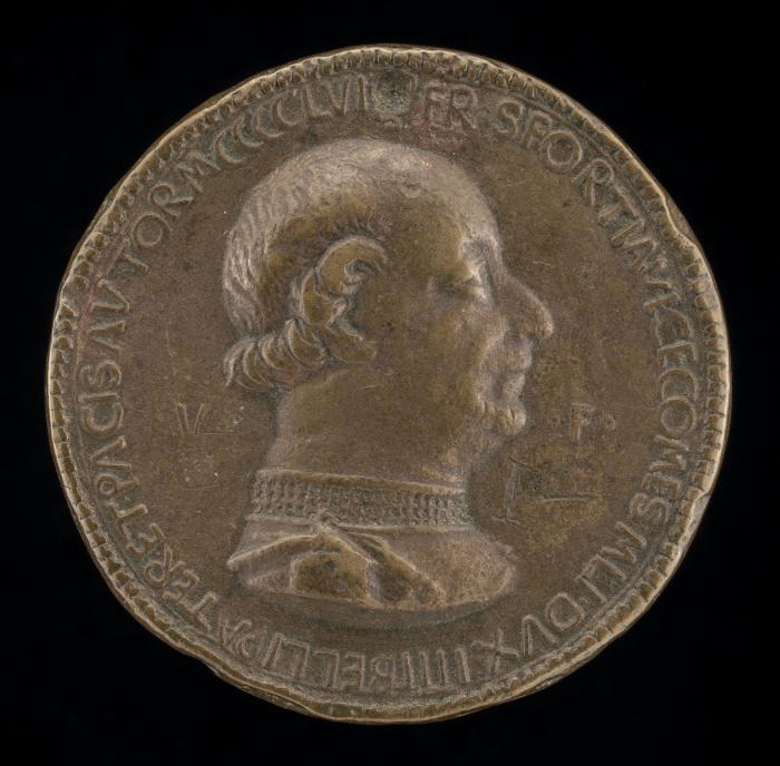 Image for Francesco I Sforza, 1401-1466, 4th Duke of Milan 1450 [obverse]; Greyhound [reverse]