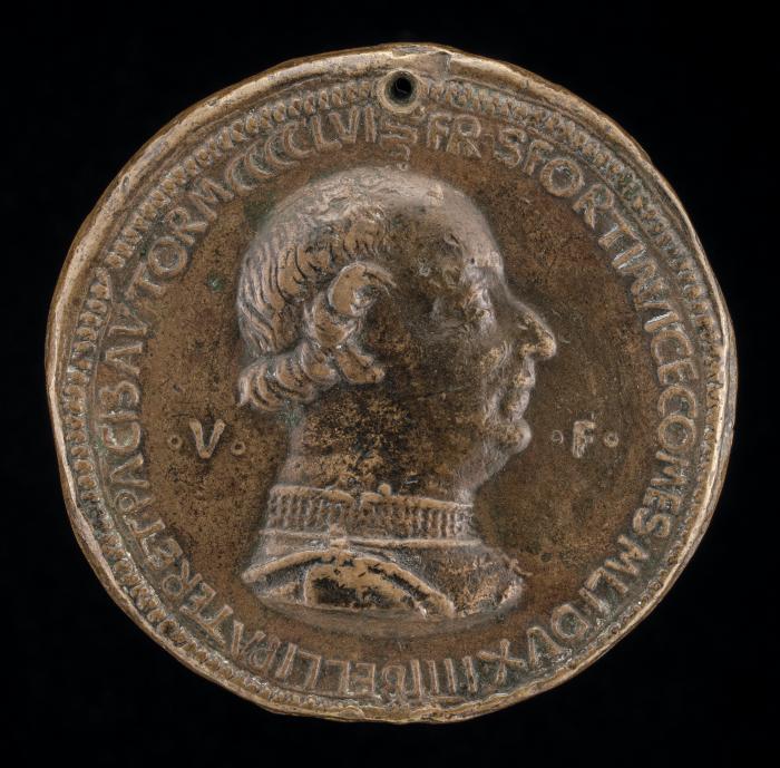 Image for Francesco I Sforza, 1401-1466, 4th Duke of Milan 1450 [obverse]; Galeazzo Maria Sforza, 1444-1476, 5th Duke of Milan 1466 [reverse]