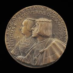 Image for Ferdinand I, 1503-1564, Archduke of Austria 1519, and Anne of Hungary, died 1547, His Wife 1521 [obverse]; Monogram FA Circled by the Collar of the Fleece [reverse]
