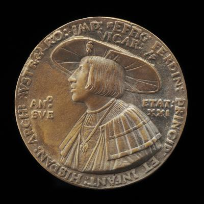 Image for Ferdinand I, 1503-1564, Archduke of Austria 1519, Emperor 1556 [obverse]; Anna of Hungary, Wife of Ferdinand I of Austria 1521 [reverse]