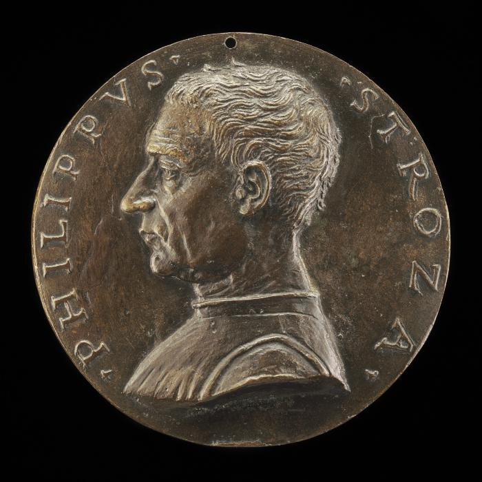 Image for Filippo Strozzi, 1428-1491, Florentine Merchant-Prince [obverse]; Eagle and Strozzi Shield in a Meadow [reverse]